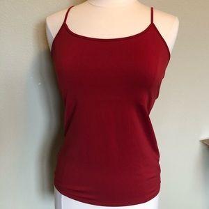 WHBM Red Camisole w/Shelf Bra